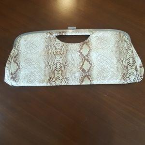 Vintage faux snakeskin Clutch